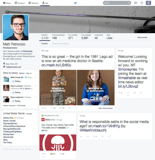 Twitter's website tests new redesign with Pinterest-like timeline - photo 2