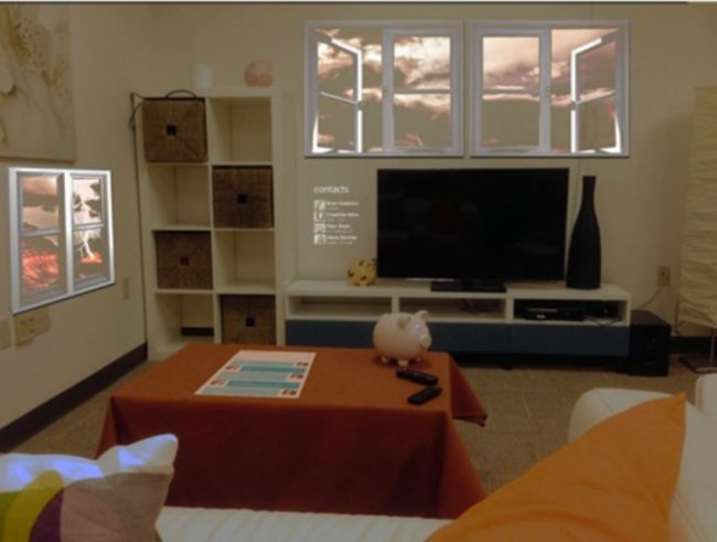 Microsoft Research creates 3D browser to beam content to every wall of your room - photo 3