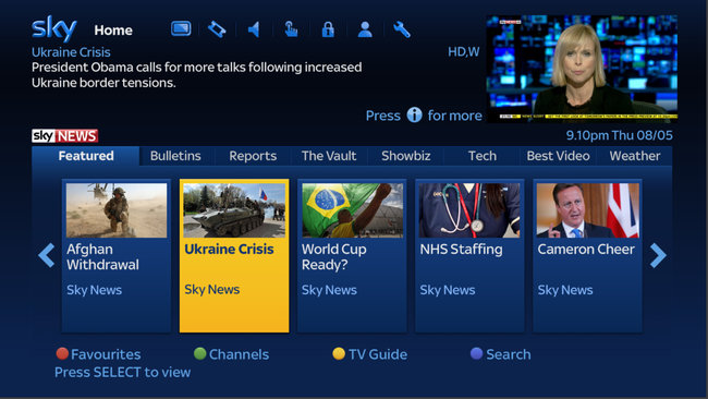 Sky News adds Catch Up TV service for Sky+HD customers - photo 1