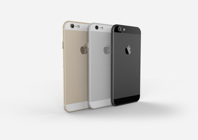 Apple iPhone 6 compared in gold, space grey and silver renders - photo 1