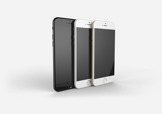Apple iPhone 6 compared in gold, space grey and silver renders - photo 3