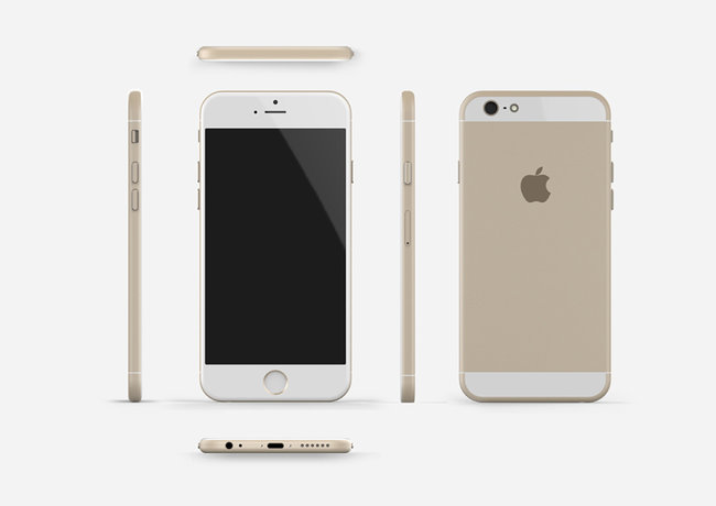 Apple iPhone 6 compared in gold, space grey and silver renders - photo 5