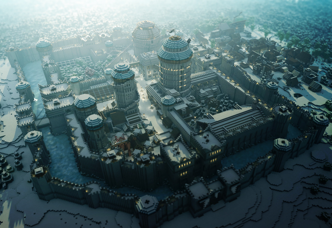 Minecraft Winterfell Game of Thrones Arhitectura