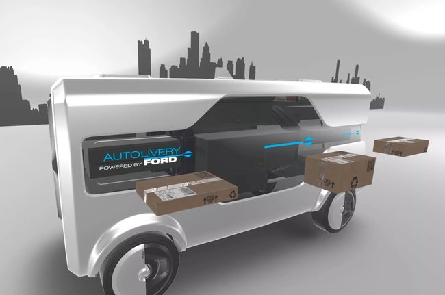 Ford wants its electric self-driving delivery vans to launch drones - photo 4