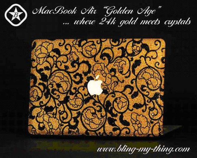 CeBIT 2008: Bling My Thing's £20k gold and crystal MacBook Air - photo 2