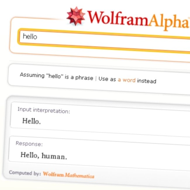 Wolfram Alpha's clever answers - photo 1
