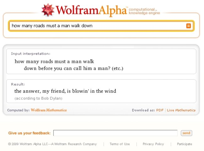 Wolfram Alpha's clever answers - photo 3
