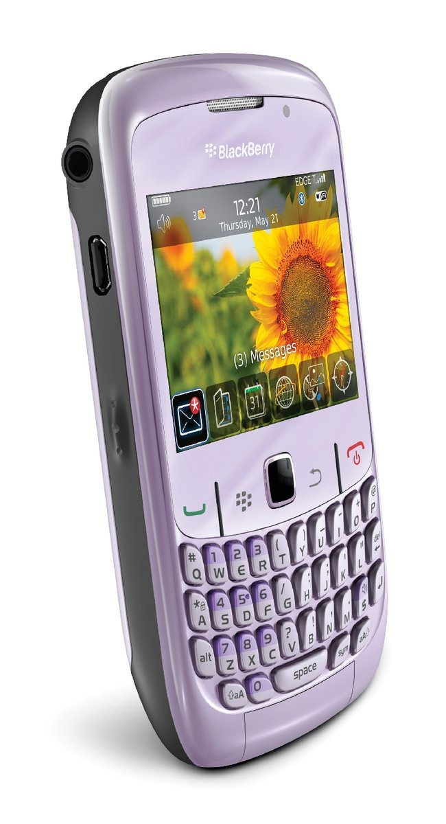 Carphone details BlackBerry Curve 8520 in violet - photo 3