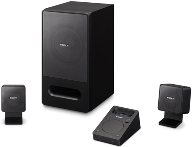 Sony pumps up PC speakers with iPhone dock  - photo 2