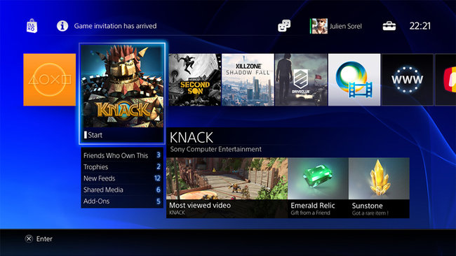 New PS4 User Interface