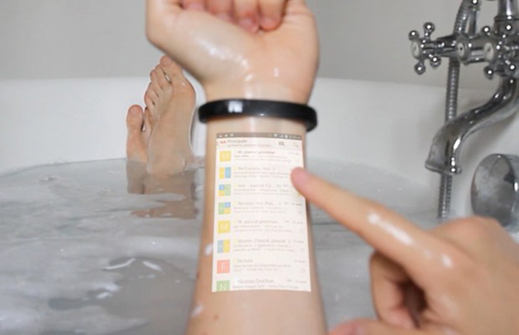 The Cicret Smart Bracelet puts a touch-controlled projector on your arm. Move over Google Glass
