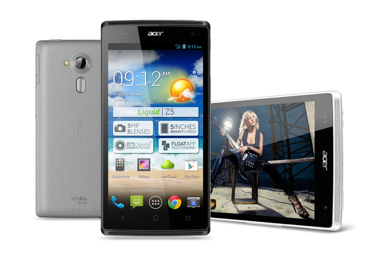 Acer Liquid Z5 offers a 5-inch
