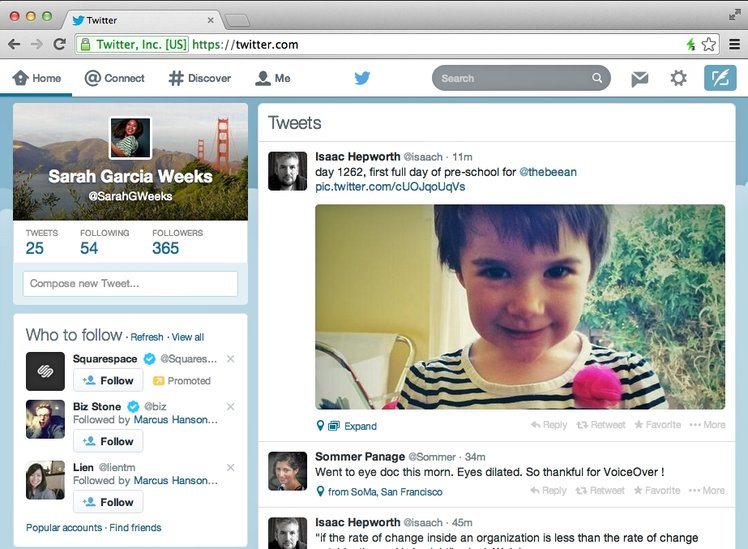 Twitter refreshes website with