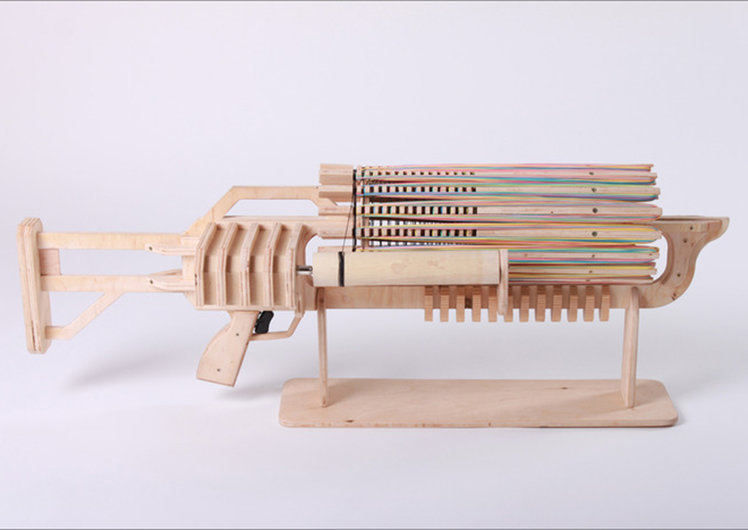 Rubber Band Rambo gatling gun