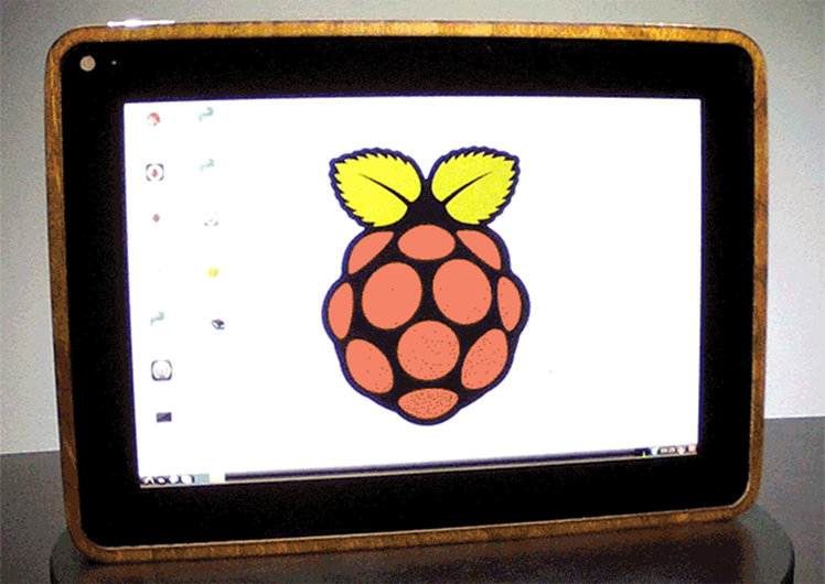 Homemade Raspberry Pi tablet,
