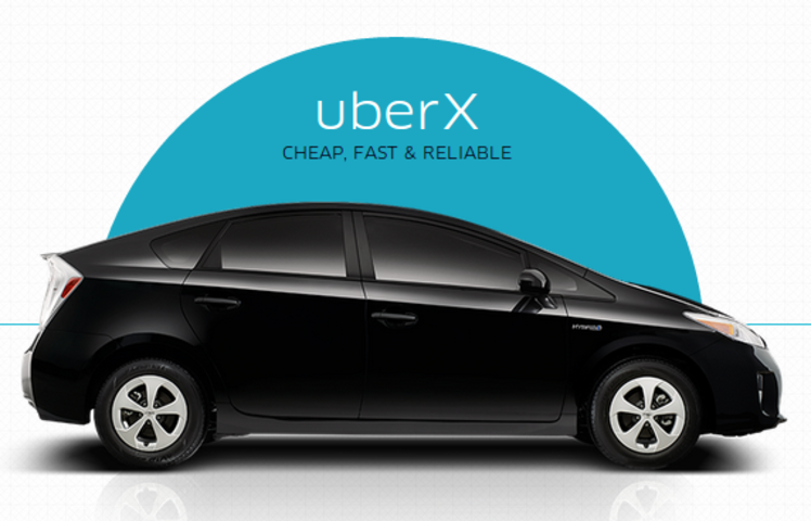Uber lowers UberX prices in