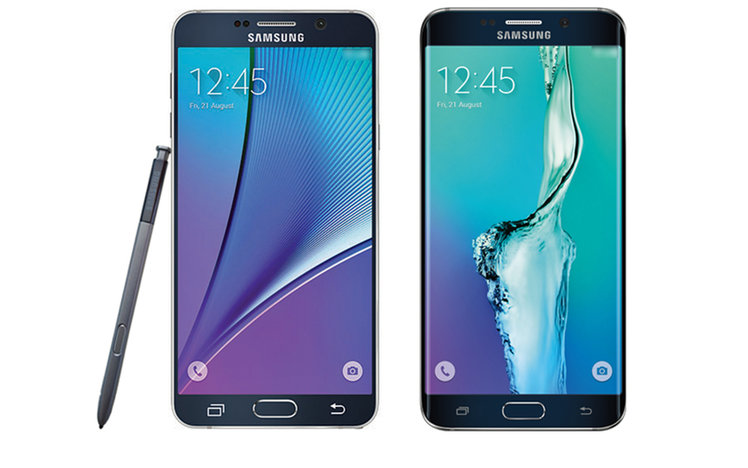 Samsung Galaxy Note 5 and S6