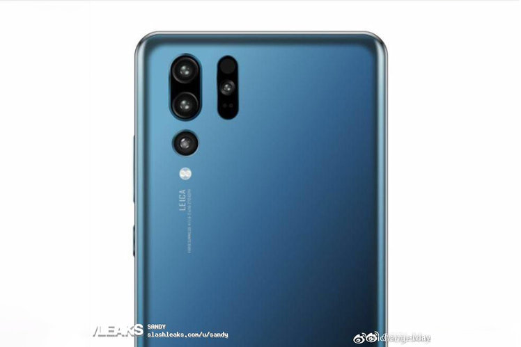 Huawei P30 Pro render shows bonkers camera array on rear