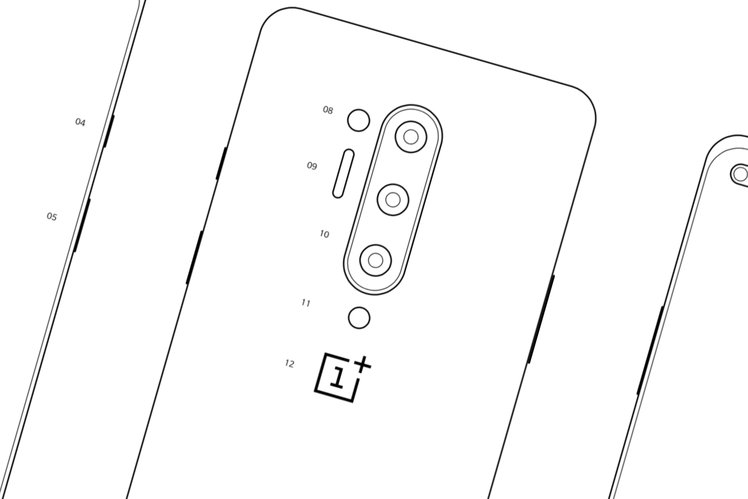 Leaked OnePlus 8 sketches appear to confirm quad camera and hole punch display
