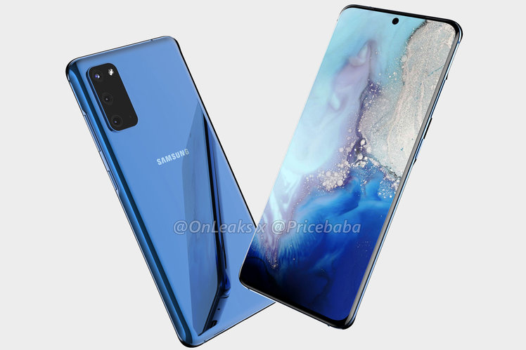 Samsung Galaxy S11e renders suggest triple camera, dual edge screen and in-display fingerprint sensor