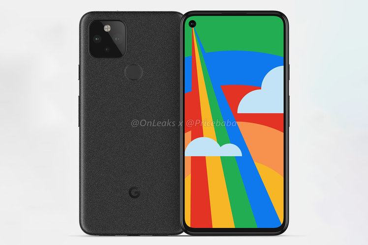 Google Pixel 5 renders show a hole-punch camera on the front