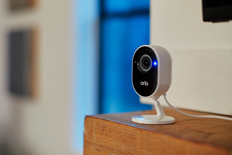 Arlo Essential Indoor Camera contains a physical lens cover to protect your privacy