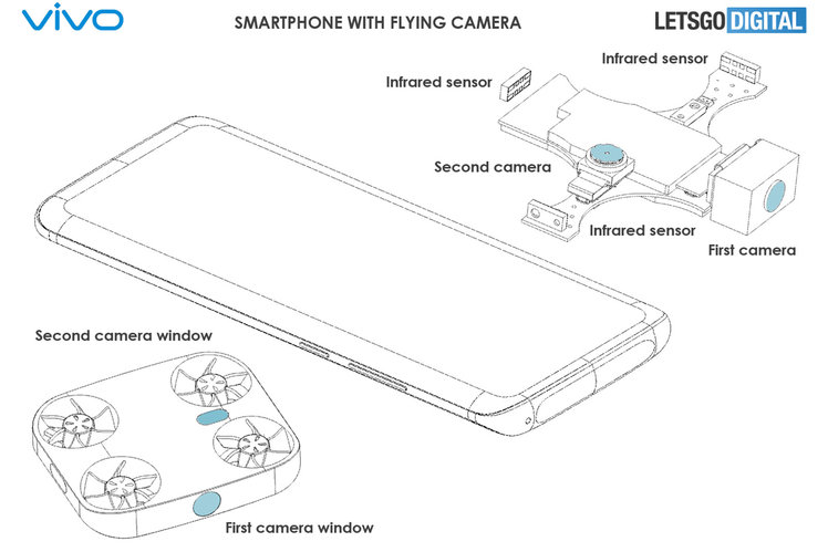 Vivo's 'phone with drone' concept features a whacky flying camera unit