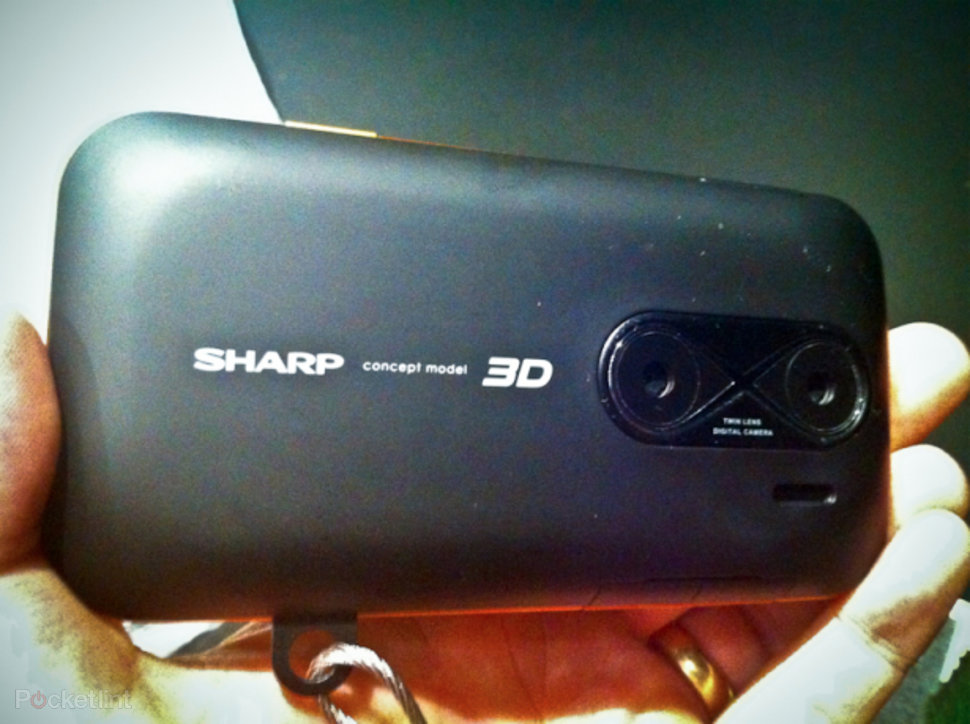 Image result for Sharp demos new 3D cellphone at IFA 2010