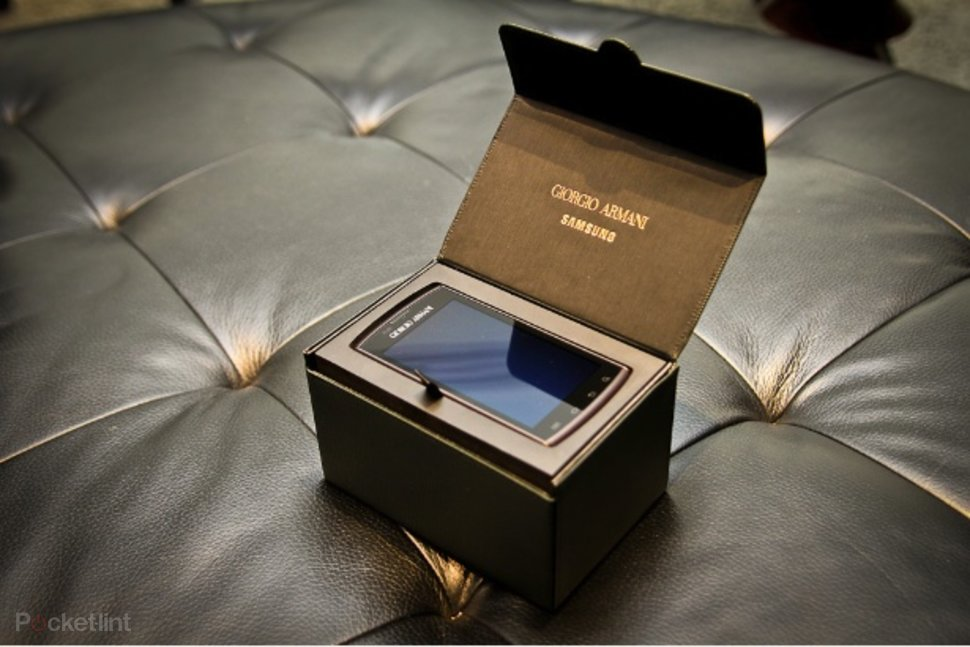 new arrival release date: fashion style Samsung Giorgio Armani Galaxy S hands-on