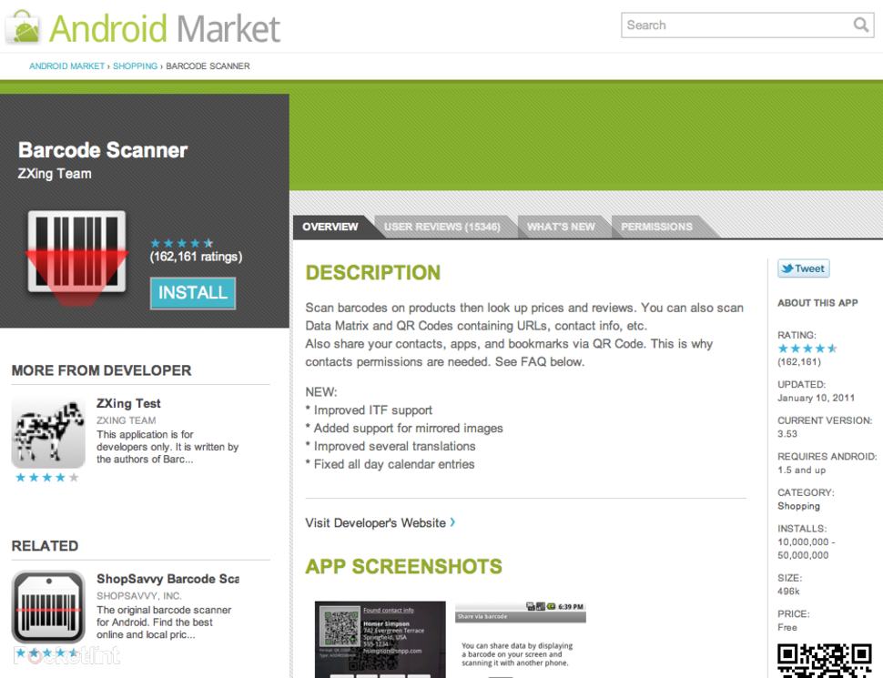Android Market website will push apps to your phone - Pocket-li
