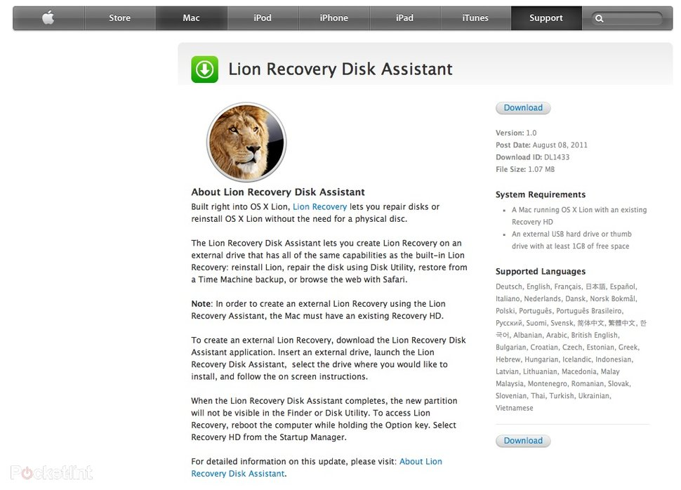 How to create an Apple Mac OS X Lion Recovery Disk - Pocket-lin