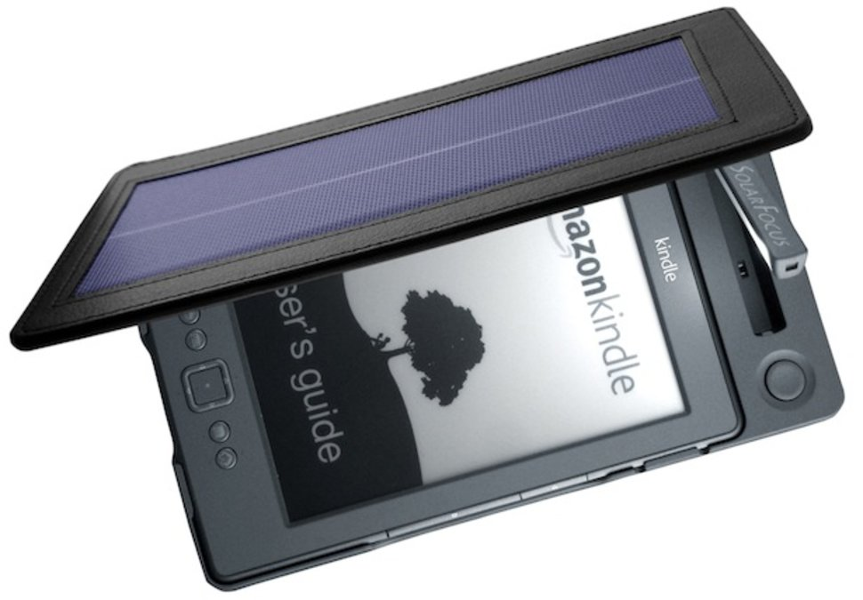 solarkindle e reader cover shines on image 1