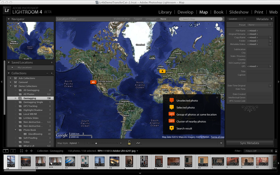 Adobe Lightroom 4 intros better geo-tagging, video and books -
