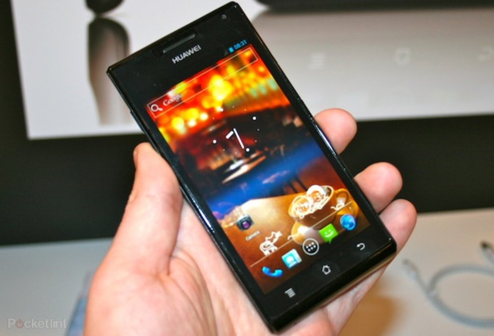 Huawei Ascend P1 S world's slimmest smartphone pictures and han