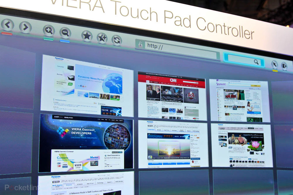 Panasonic Viera Touch Pad Controller pictures and hands-on - Po