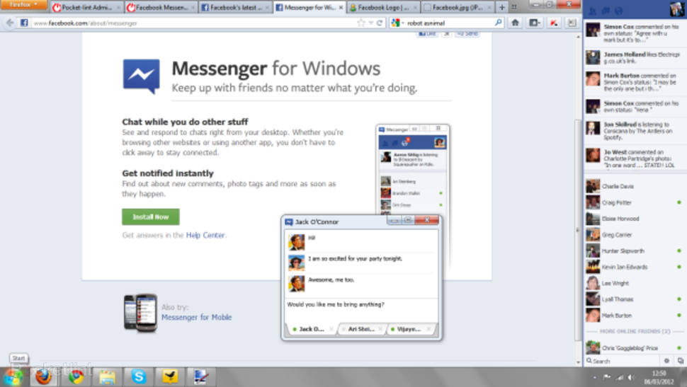 Facebook chat app windows  Facebook App For PC Free Download