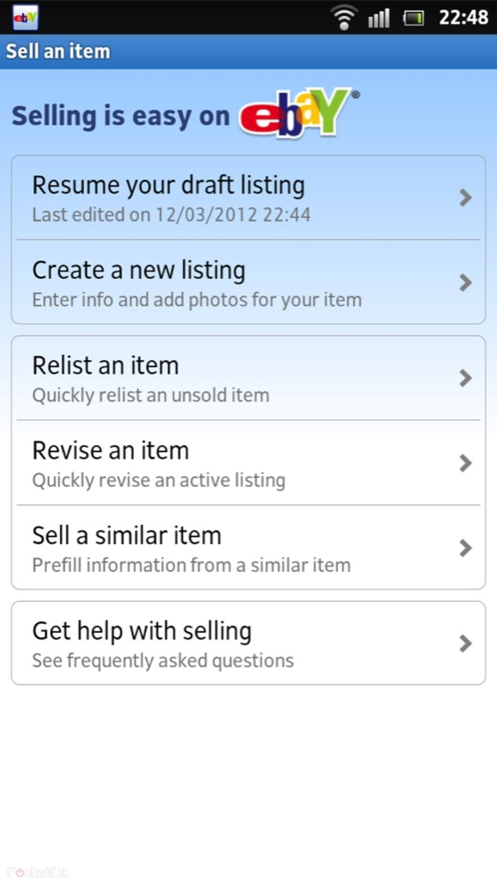 App of the day official ebay android app review android app of the day official ebay android app review android image 6 ccuart Choice Image