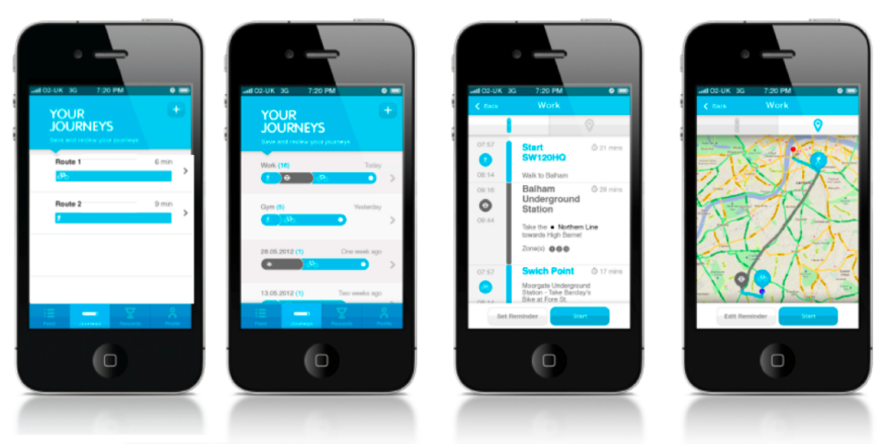 Re:route: The app that rewards Londoners for walking to work -
