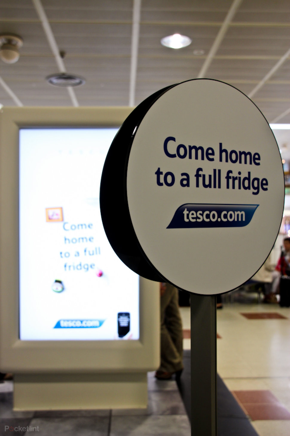 Tesco trials interactive virtual store at Gatwick Airport, for