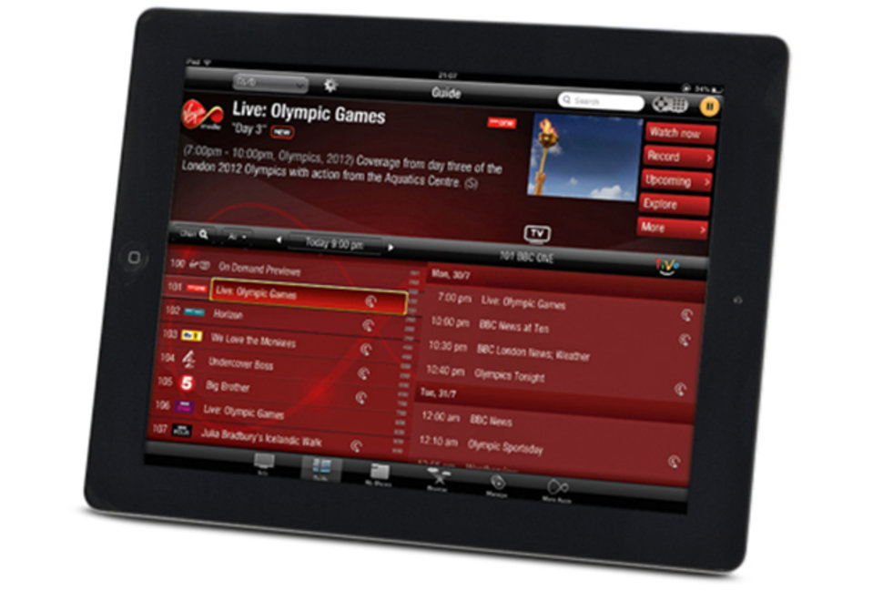 Virgin TV Anywhere iOS app revealed, ideal companion to your Ti