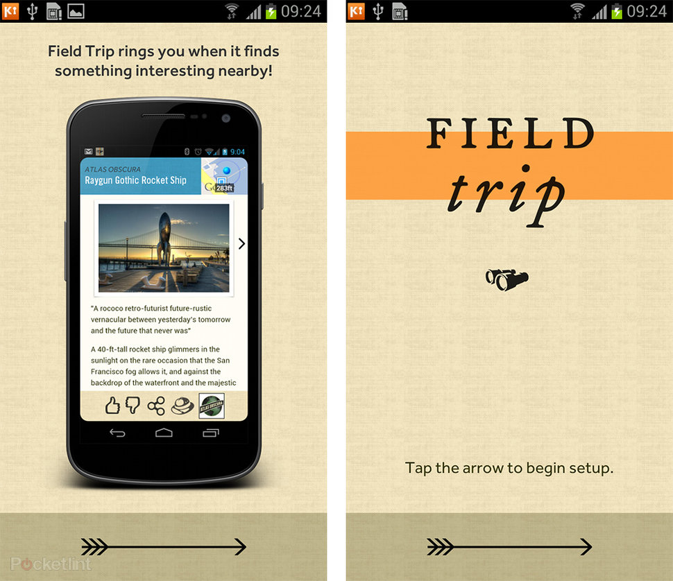 Google Field Trip app pictures and hands-on