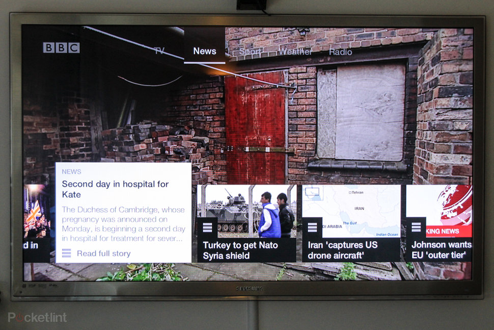 New BBC connected red button pictures and hands-on: Virgin Medi
