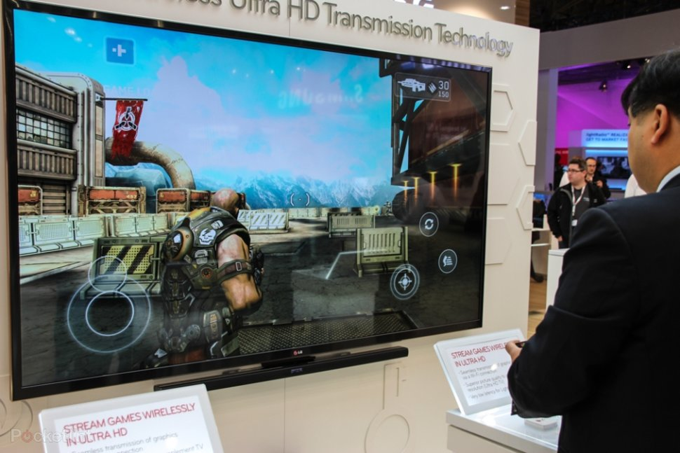 Hands On Lg Shows Off 4k Uhd Wireless Streaming From Phone To