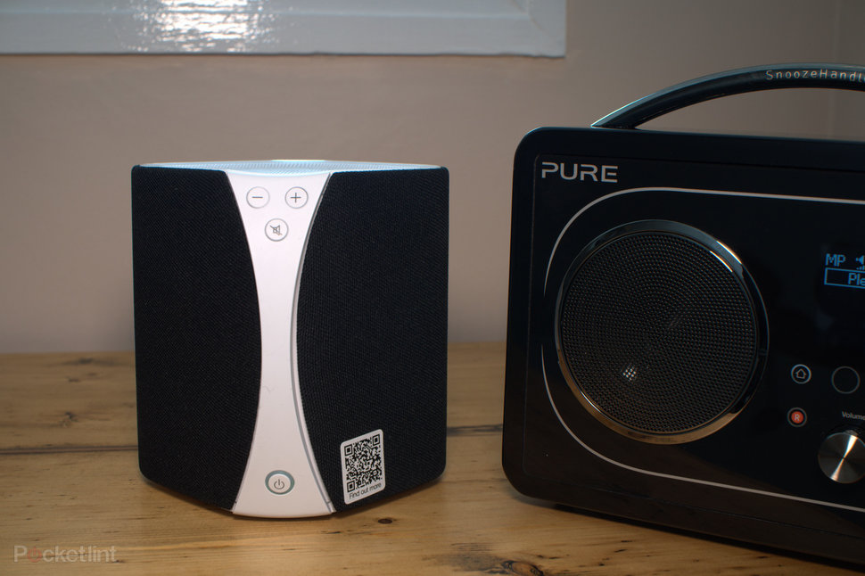 The Evoke F4 with the Pure Jongo, one of Pure's wireless speakers