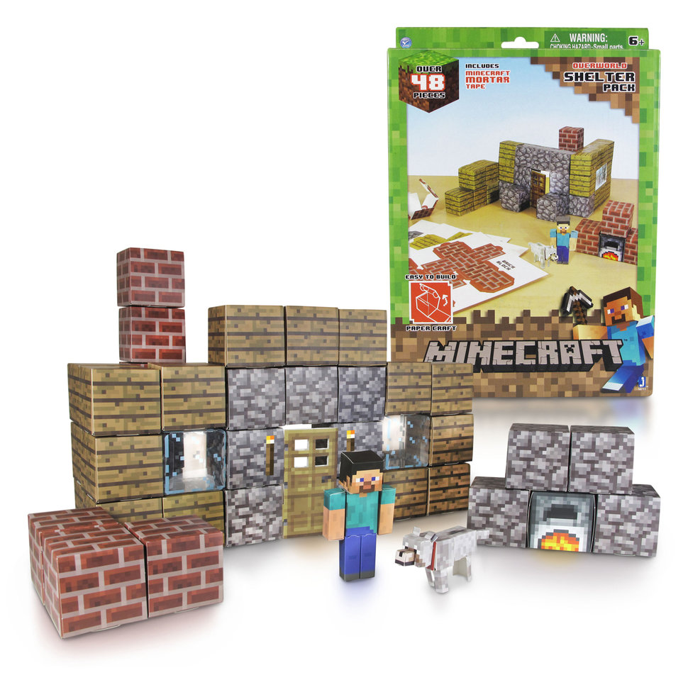 Minecraft toy collection pictured: Action figures, plush toys a