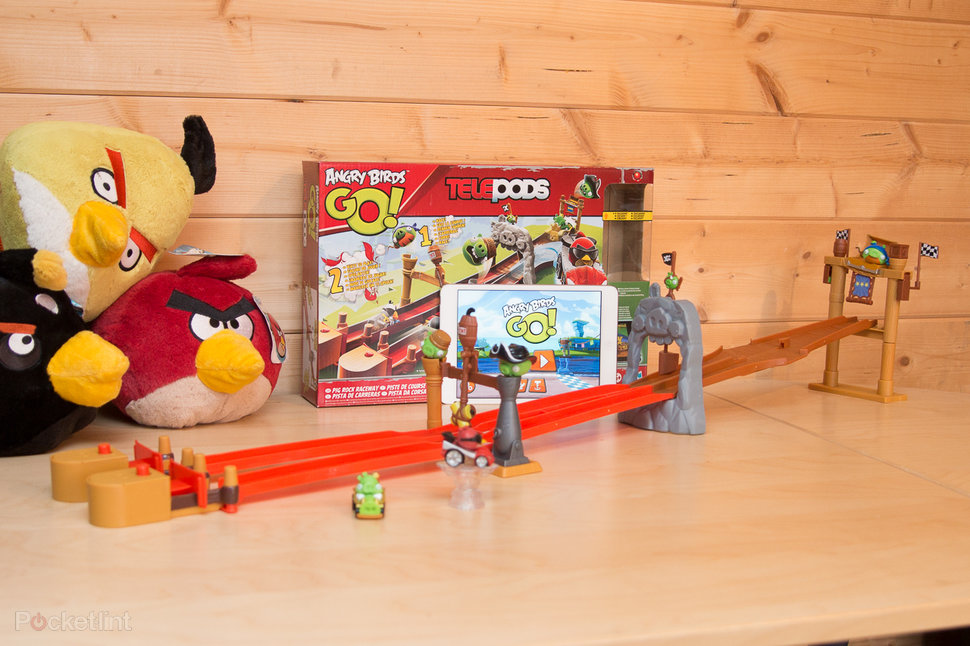 angry birds go telepods pig rock raceway set review image 1