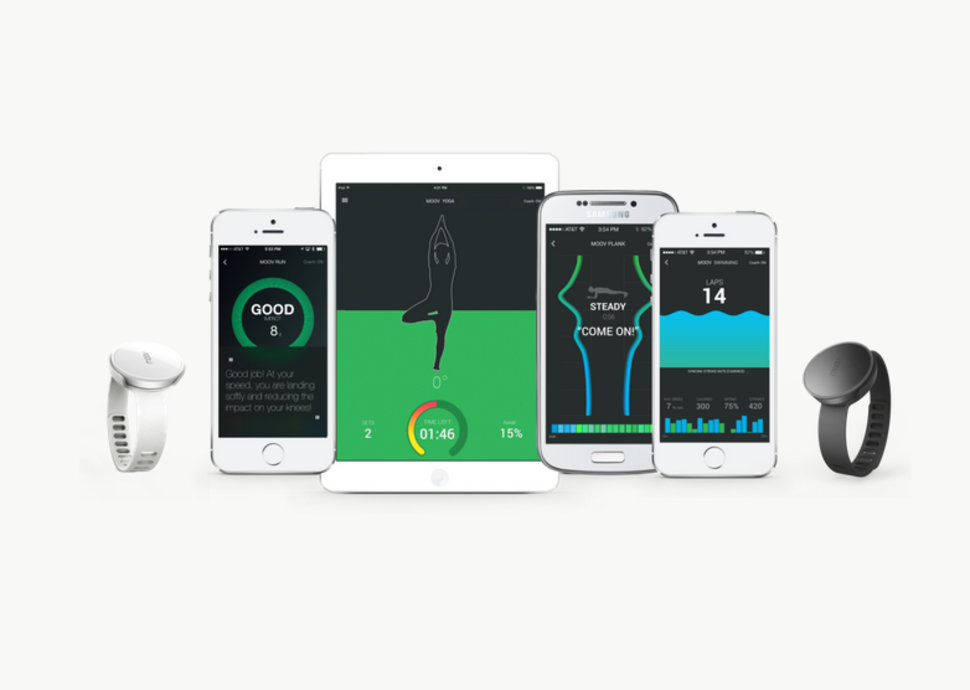Moov is a personal training wearable device that gives you voic