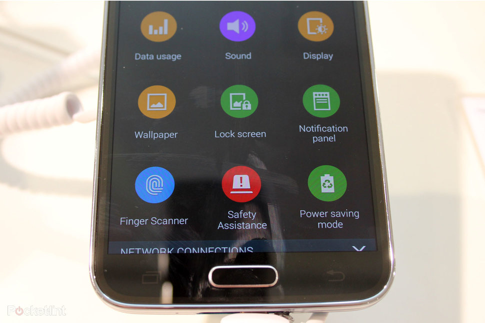 How does the Samsung Galaxy S5 fingerprint scanner work? - Pock