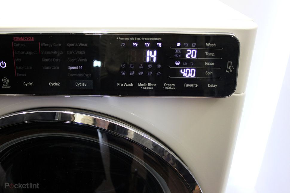 LG's new washing machines use NFC to offer more programmes via