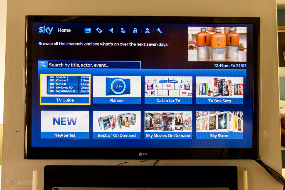 hands on sky epg 2014 review video  image 1